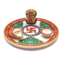 Decorative Pooja Thali 10