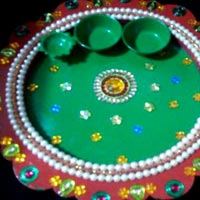 Decorative Pooja Plate 02