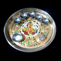 Decorative Pooja Plate 04