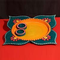 Decorative Pooja Thali 09