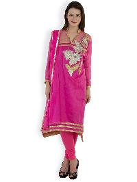 Chanderi Embroidered Suits