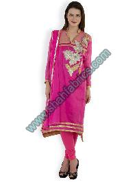 Chanderi Embroidered Suit