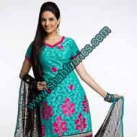 Chanderi Unstitched Suits (F 1069)