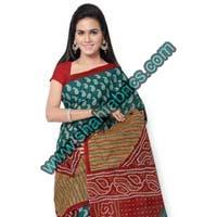 Cotton Bandhej Sarees (BCA 1104)