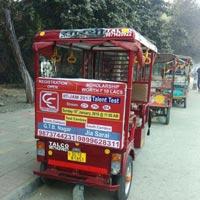 E Rickshaw Advertising
