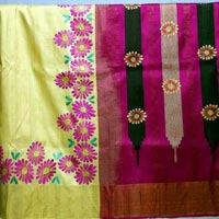 Hand Painted Sarees 07