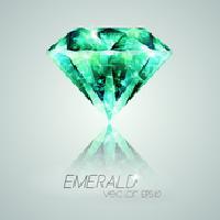 Round Diamond Cut Emerald Stone 01