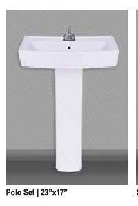 Polo Ceramic Pedestal Wash Basin