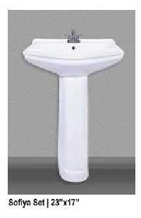 Sofiya Ceramic Pedestal Wash Basin