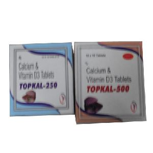 CALCIUM WITH VITAME D-3    Topkal Tablets