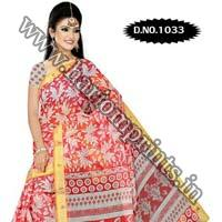 Zari Gadwaal Cotton Saree (1033)