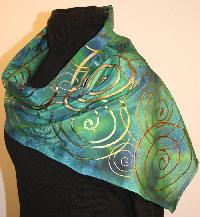 Hand Printed Scarf 08