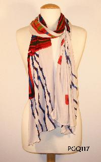 Hand Printed Scarf 09