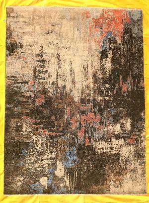Hand Knotted Modern Design Woolen Carpets 02