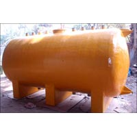 Horizontal PVC + FRP Acid Storage Tank 01