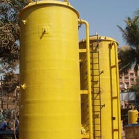 Vertical 25 Kl  FRP Acid Storage Tank 2