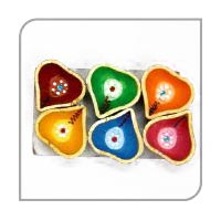 Decorative Earthen Diya 05