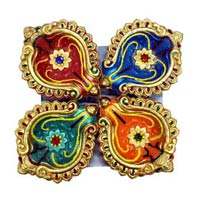 Decorative Kundan Diyas 05