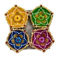 Decorative Kundan Diyas 06