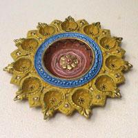 Decorative Rangoli Diya 03