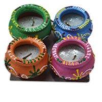 Decorative Rangoli Diya 04