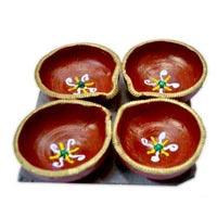 Decorative Rangoli Diya 05