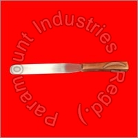 Ointment Spatula Wooden Steel Handle