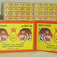 Pair Tiger Safety Matches