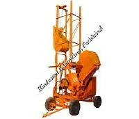 Two Pole Concrete Mixer with Mechanical Lift 06