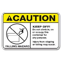Caution Stickers