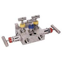 Pipe to Flange 5 Valve Manifold