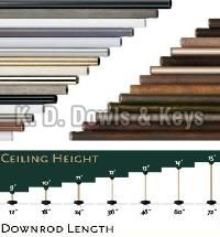 Ceiling Fan Downrods
