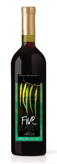 Five Leaves Large Merlot Wine