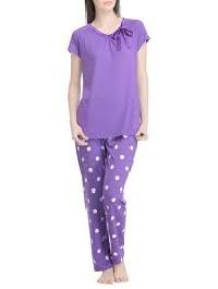 Pyjama Set with Polka Designs