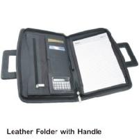 Leather Folders with Handle