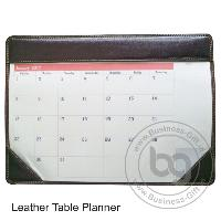 Leather Table Planner