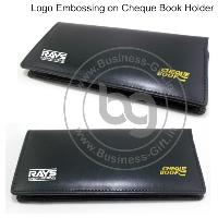 Logo Embossing on Cheque Book Holders