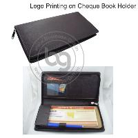 Logo Printing on Cheque Book Holders