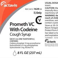 Actavis Promethazine Codeine Cough Syrup