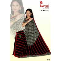 D. No. 619(c) Chiffon Printed saree