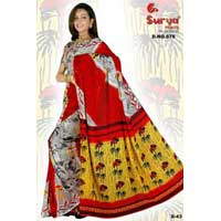 D. No. 678 Printed Saree