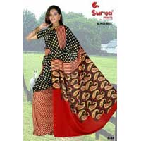 D. No. 682(b) Chiffon Printed saree