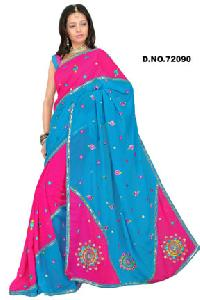 D. No. 72090 Embroidered Sarees