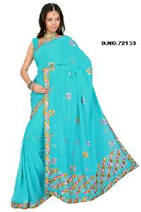 D. No. 72133 Embroidered Sarees