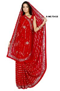 D. No. 73422 Embroidered Sarees