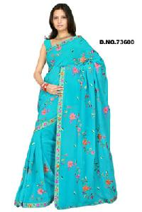 D. No. 73600 Embroidered Sarees