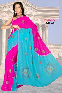 Paroo D. No. 631 Embroidered Sarees