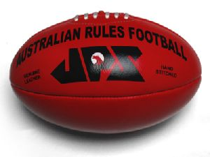 Red Genuine Leather Aussie Rules Football