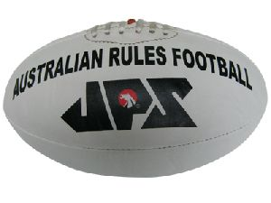 White PU Meterial Aussie Rules Football