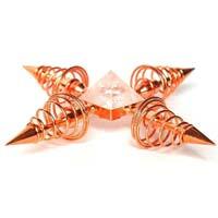 Copper & Clear Quartz Crystal Energy Generator
